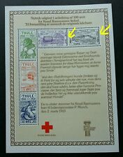 Greenland Thule Reprint Red Cross 1979 Flag Ship (ms) MNH *perf shift *error