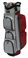 "RJ Sports EL-680 True Cart Bag, 9.5"", Red/Grey"