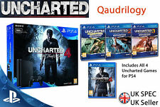 NEW SEALED Sony Playstation 4 SLIM Console UNCHARTED QUADRILOGY 4 Games PS4