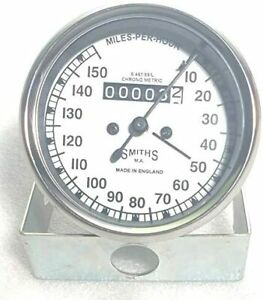 Smiths gauges Speedometer Replica in white face chrome bezel