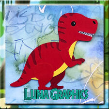 DINOSAUR T-REX RED Embellishment card toppers and scrapbooking