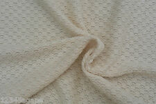 C128 RUSTIC 2WAY CHUNKY WAFFLE KNIT NATURAL COLOUR TONE PURE COTTON HEAVY WEIGHT