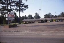 "Small Retro ""The Pines"" Motel & Sign Vintage 1968 Slide Photo"