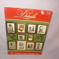 Jeanette Crews Details 184 Counted Cross Stitch Pattern Leaflet Book 1999 Doors