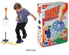 Kids BUBBLE ROCKET Set Jump Jet Launcher Christmas Gift Stocking Filler Toys
