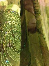 Ladies Kameez Shalwar Ramadan Eid Clothes Silk Chiffon Gota Pakama Pants Size M
