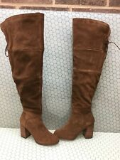 Steve Madden NOVELA Brown Suede Side Zip Over The Knee Boots Women's Size 9