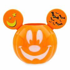 Disney Halloween 2019 Mickey Jack-O'Lantern Pumpkin Ears Candy Bucket Bowl GITD