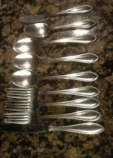 International Stainless Flatware Unknown Pattern set Of (9) Mixed Lots