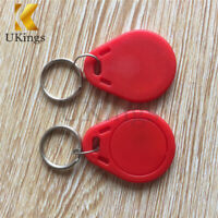 5/10/20/50/100PCS 13.56MHz Red RFID IC Key Tags Keyfobs Token NFC TAG Keychain