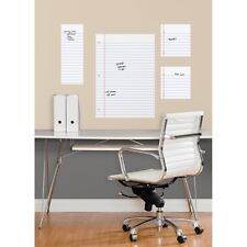 NOTEBOOK PAPER Dry Erase Board WALL DECALS BiG Office Teacher Kids Room Stickers