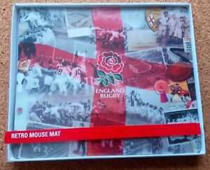 England Rugby Union Retro Mouse Mat (Official Merchandise) - FREE POSTAGE!