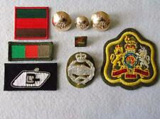 British Army Royal Tank Regiment Officers Cap/Arm Rank & Lapel Badges & TRFs