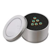 6PCS Folk Acoustic Guitar Brass Bridge Pin Peg Nail w/ Green Crystal Dot