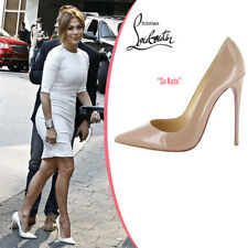 Christian Louboutin Nude Beige Patent Leather So Kate Pointed Toe Pumps Shoes 41