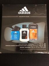 ADIDAS Gift Set For men (EDT 1.7oz+SHOWER GEL 3.4oz+DEO 2.0oz) UNBOXED