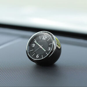 Metal Chrome Car Dashboard Air Vent Nice Clock Timer Solid Base Clip Accessories