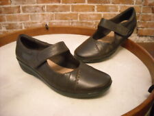 Clarks Brown Leather Everlay Daphne Mary Jane Shoe 8.5W NEW