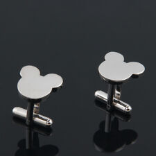 NEW Mickey Mouse Face Men`s Boy Wedding Party Gift Fashion Cufflinks + CHARM