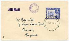 Fiji 1950 KG6 1/6 primer día cubierta