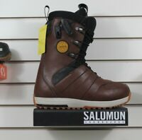 New 2018 Salomon Launch Lace Snowboard Boots Mens Size 9.5 Brown