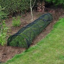 12 Pack Allotment Plant Protector Garden Net Mesh Tunnel Cloche Mini 3m long