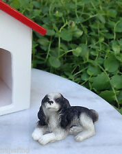Miniature Dollhouse FAIRY GARDEN Accessories ~ Small Welsh Springer Spaniel Dog