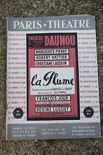 PARIS THEATRE - LA PLUME - PIERRY VATTIER LASQUIN - N°105