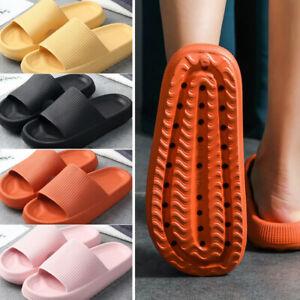 Women Men Super Soft Home Slippers Unisex Non-slip Bathing Platform Slippers uk