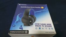 Sony Playstation Gold Wireless Stereo Headset V.S.S. -Broken Left Ear Cuff-