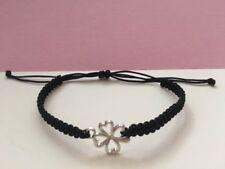 Good Luck Wish Bracelet with 4 Leaf Clover Charm Handmade