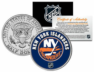 NEW YORK ISLANDERS NHL Hockey JFK Kennedy Half Dollar U.S. Coin * LICENSED *