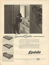 Publicité Advertising 1960  Sommeil  EPEDA matelas et sommiers