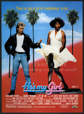 HE'S MY GIRL__Orig. 1987 Trade print AD movie promo__T.K. CARTER__JENNIFER TILLY