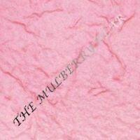10 Pc Premium Extra Thick  Medium Pink Handmade Mulberry Paper Tear Bear Piecing