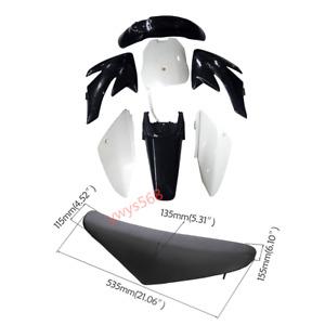 For Honda CRF 70 CRF70 CRF70F Plastic Fairing Fender Body Kit + Seat Dirt Bike