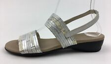 Munro Tangier 310 41818 Slingback Sandals Size 7.5 M, Silver 2307