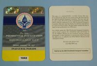 Trump Inaugural Parade VIP/Donors YELLOW Plastic Credentials Pass Ticket