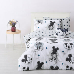 Mickey Mouse - Disney Single Bed Quilt Doona Duvet Cover Set F1
