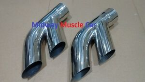 "76-81 Pontiac Trans AM Firebird 2.5"" stainless exhaust tail pipe tip splitters"