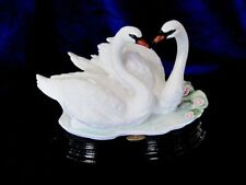 Giuseppe Armani #1386S A Pair Of Swans Brand New In Box Swan Birds Love Rare F/S