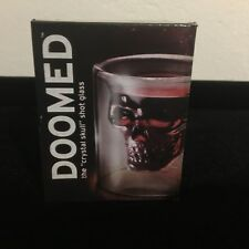 New DOOMED Crystal Skull Head Shot Glass Novelty Designer Transparent Wine Glass