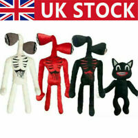 Cartoon Siren Head Horror Black Cat Plush Stuffed Doll Kids Christmas Gift Toy