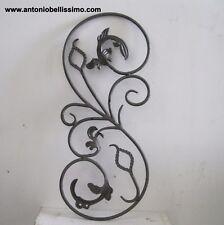 pannello in ferro battuto rosone in ferro art. 13.136(cc) decorazione con foglie