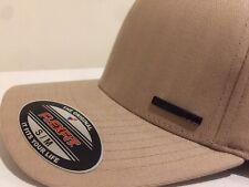 NWT ORIGINAL FLEXFIT light Brown Beige S/M Fitted Stretch Cap
