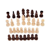 32pcs/set wooden chess king 5.5cm height.total weight about 90g White FDCA