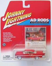 JOHNNY LIGHTNING R4 AD RODS 1956 LINCOLN PREMIERE Yellowed Bubble #5