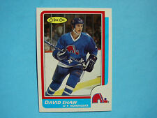 1986/87 O-PEE-CHEE NHL HOCKEY CARD #236 DAVID SHAW ROOKIE NM SHARP!! 86/87 OPC