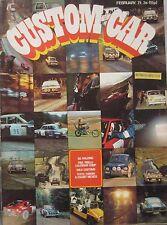 Custom Car magazine 02/1971 featuring Lotus Europa, Ford Mexico, Jensen
