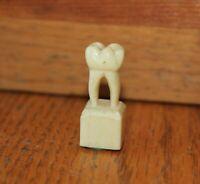 Bakelite Tooth figurine piece Molar dentist Hand carved Vintage mini statue